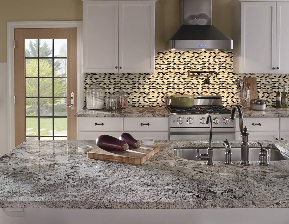 - Desert Spring Mini Brick 6mm - Backsplash Artistic Granite And