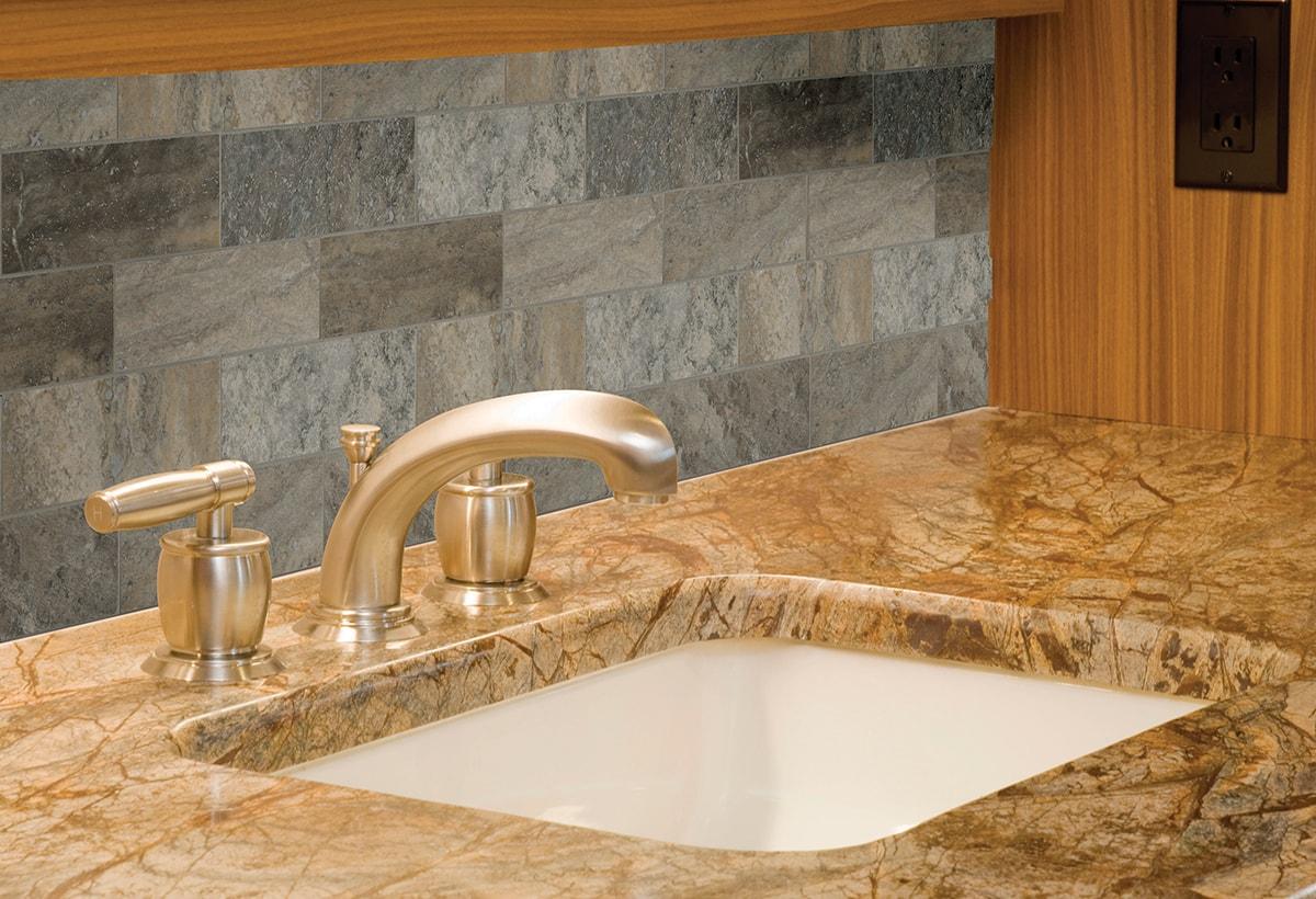 - Silver Travertine Subway Tile 4x12 - Backsplash Artistic Granite