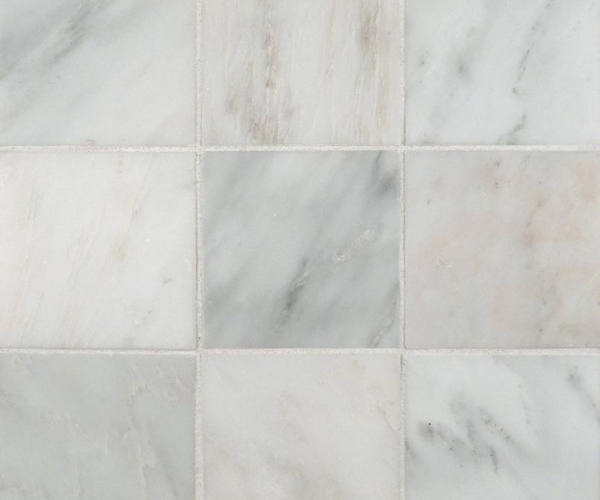 Arabescato Cararra 4x4 Honed and Beveled Tile