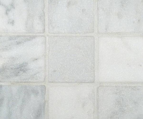 Arabescato Cararra 4x4 Tumbled Tile