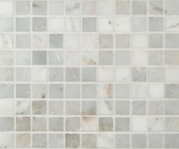 Arabescato Carrara 1x1 Honed in 12x12 Mesh