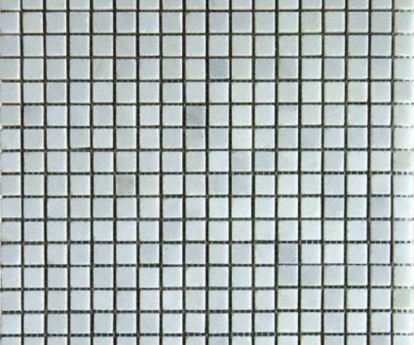 Arabescato Carrara 5/8x5/8 Honed in 12x12 Mesh