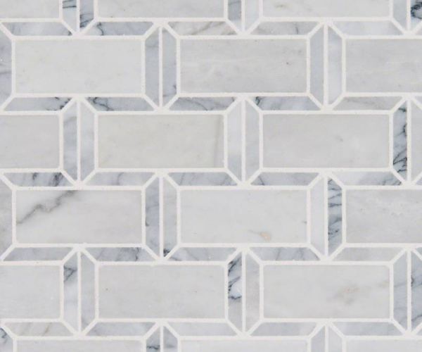 Arabescato Carrara Subway Tile Polished 2x4