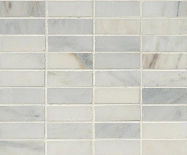Arabescato Carrara1x3 Honed in 12x12 Mesh