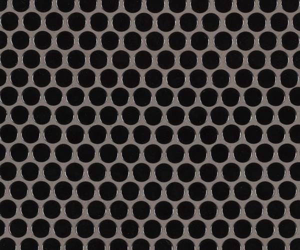 Black Glossy Penny Round Mosaic