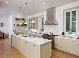 modern white marble counters